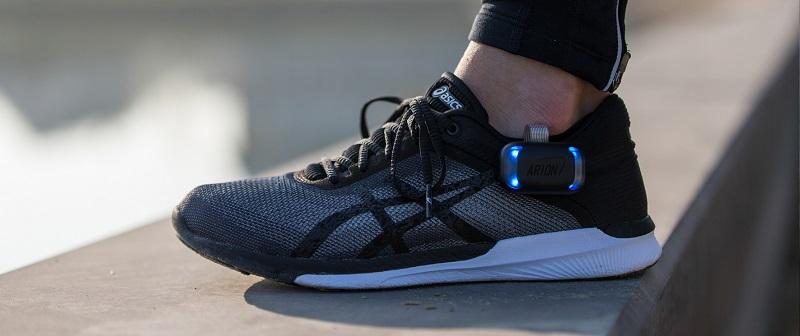 ARION footpod on running shoe