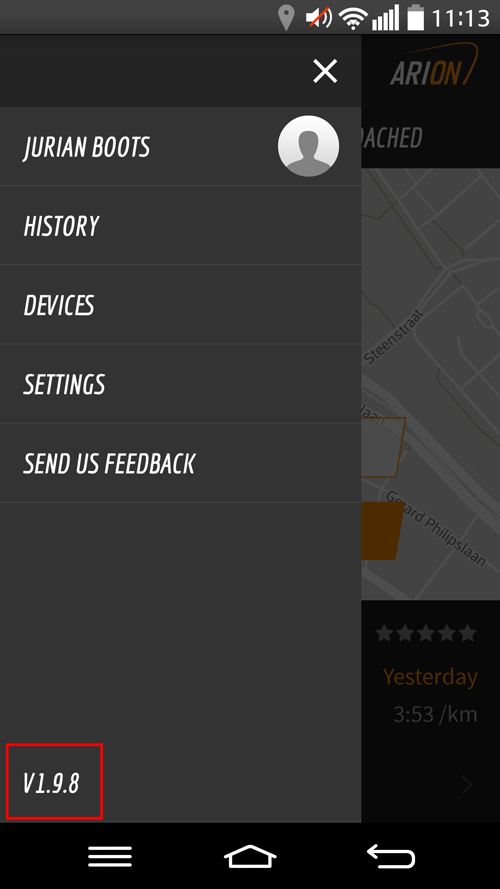Update to the latest ARION beta app.